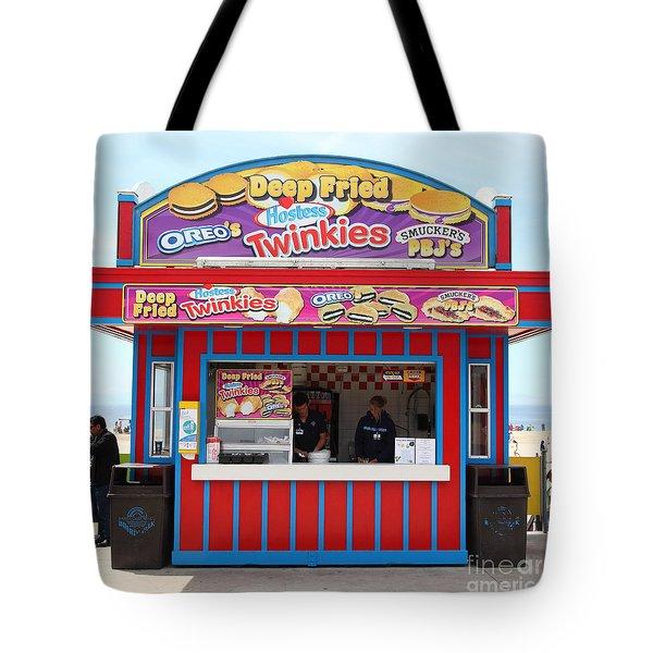 Deep Fried Hostess Twinkies At The Santa Cruz Beach Boardwalk California 5d23689 Tote Bag