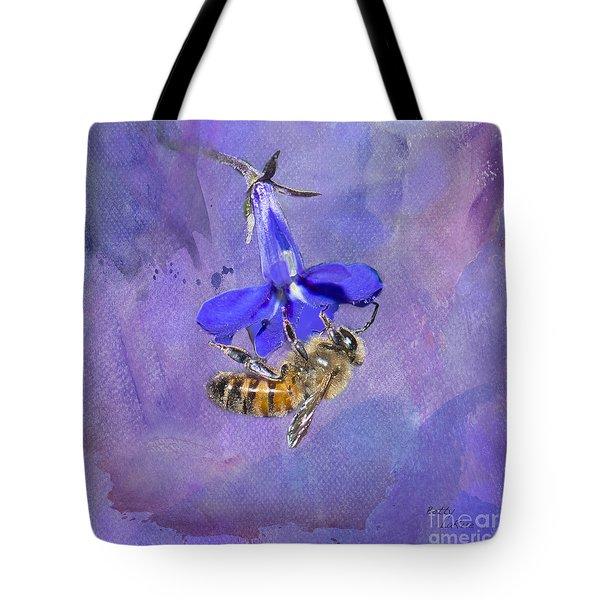 Deep In Purple Tote Bag by Betty LaRue