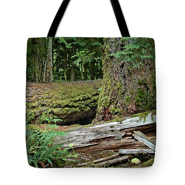 Deep In The Forest Tote Bag by Richard Farrington
