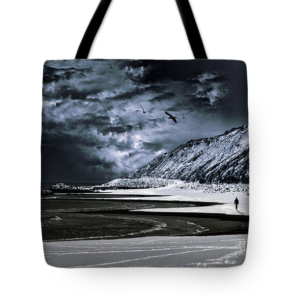 Deep Into That Darkness  Tote Bag by Stelios Kleanthous