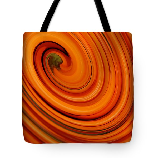 Deep Orange Abstract Tote Bag
