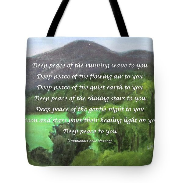 Deep Peace With Ct River Valley Tote Bag