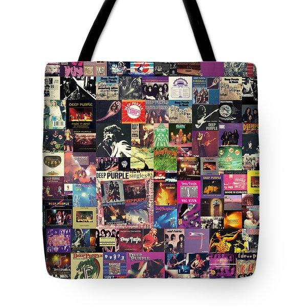 Deep Purple Collage Tote Bag