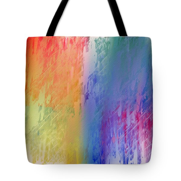 Deep Rich Sherbet Abstract Tote Bag by Andee Design