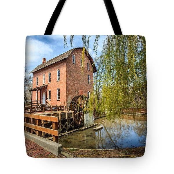 Deep River County Park Grist Mill Tote Bag by Paul Velgos