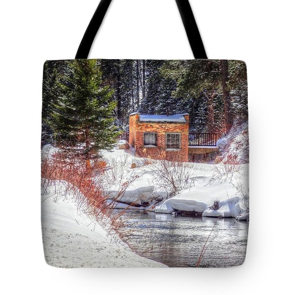 Deep Snow In Spearfish Canyon Tote Bag by Lanita Williams