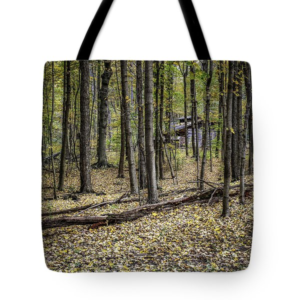 Deep Woods Cabin Tote Bag