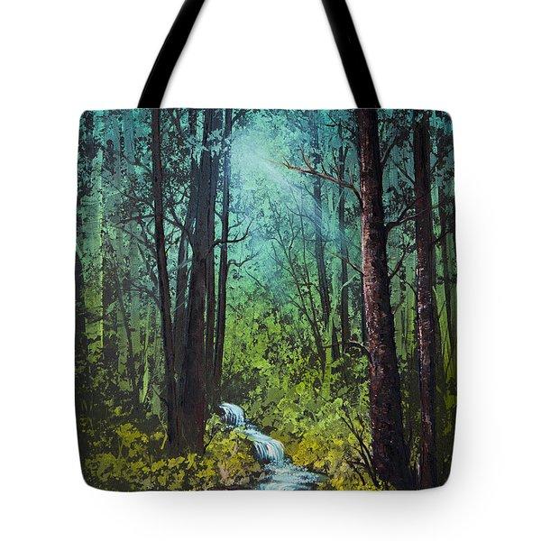 Deep Woods Stream Tote Bag by C Steele