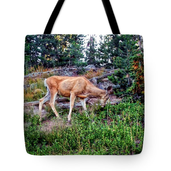 Tote Bag featuring the photograph Deer 1 by Dawn Eshelman