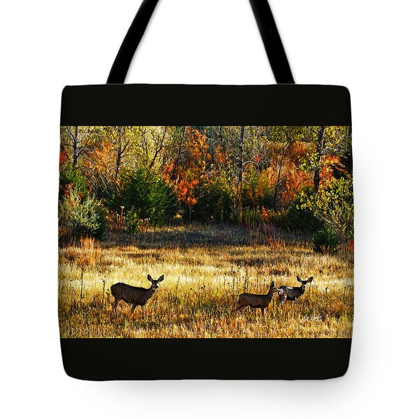 Deer Autumn Tote Bag by Bill Kesler