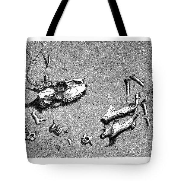 Deer Bones Tote Bag by Daniel Reed