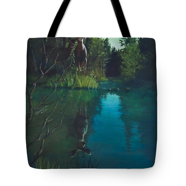 Deer Crossing Tote Bag by Rob Corsetti