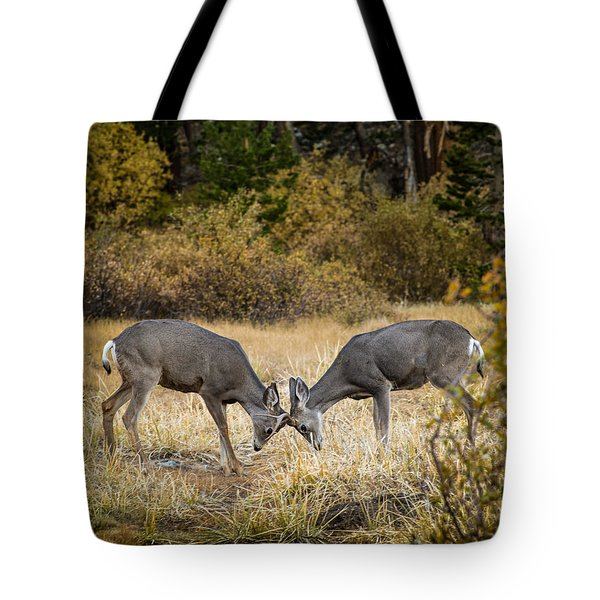 Deer Games Tote Bag