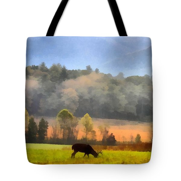 Deer In Cades Cove Smoky Mountains National Park Tote Bag