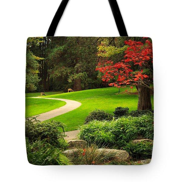 Deer In Lithia Park Tote Bag
