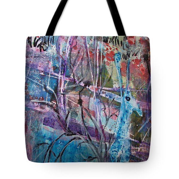 Deer In Magical Forest Tote Bag