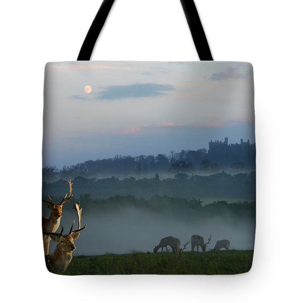 Deer In The Mist Tote Bag