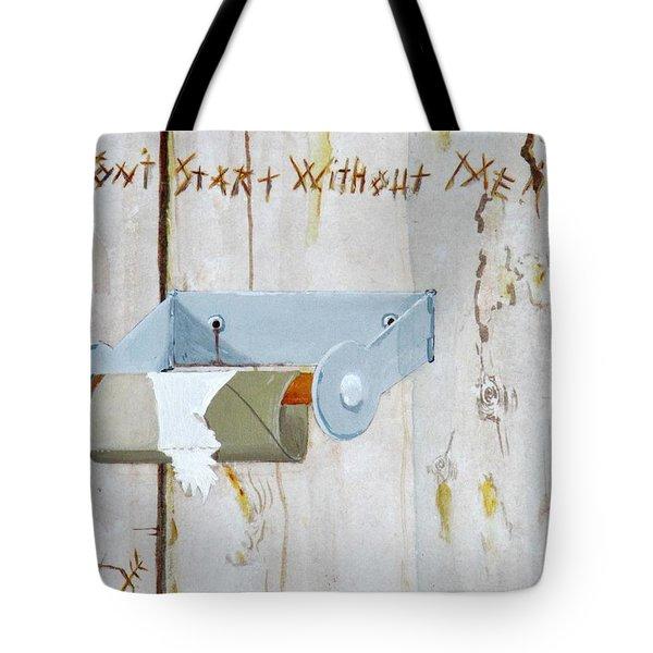 Deer Lease Dilemma Tote Bag