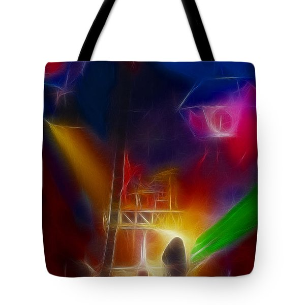 Def Leppard-adrenalize-gf10-fractal Tote Bag by Gary Gingrich Galleries