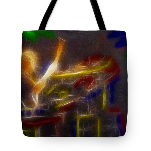 Def Leppard-adrenalize-gf24-ricka-fractal Tote Bag by Gary Gingrich Galleries