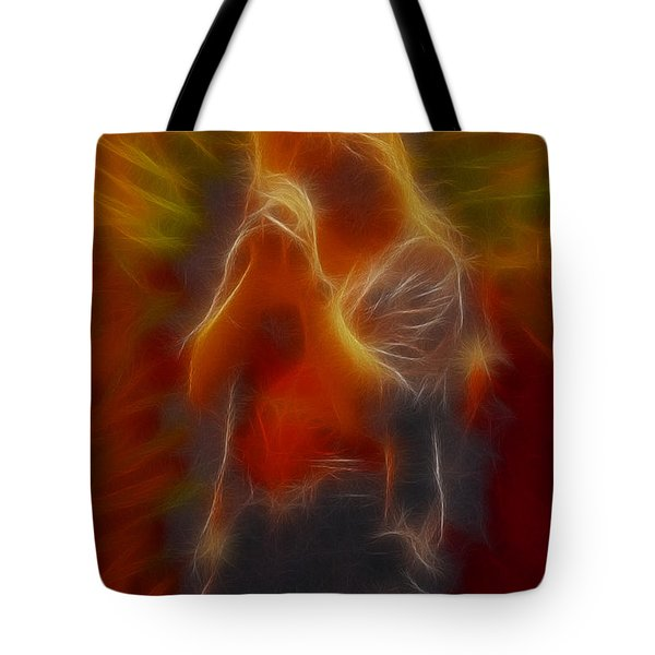Def Leppard-adrenalize-joe-gb20-fractal Tote Bag by Gary Gingrich Galleries