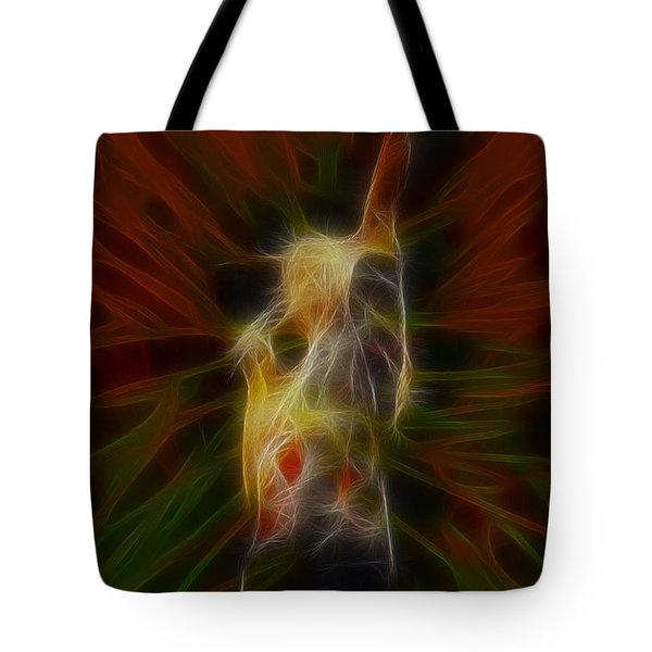 Def Leppard-adrenalize-joe-gb22-fractal-1 Tote Bag by Gary Gingrich Galleries