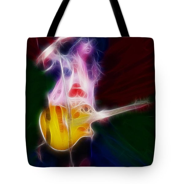 Deff Leppard-adrenalize-joe-gf25-fractal Tote Bag by Gary Gingrich Galleries