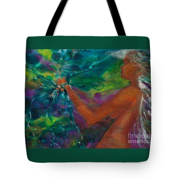 Defining Her Essence Tote Bag by Ilisa Millermoon