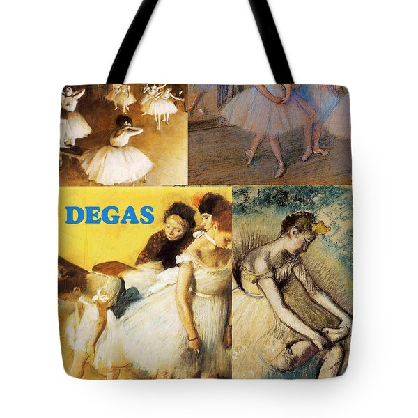 Degas Collage Tote Bag by Philip Ralley