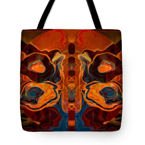 Deities Abstract Digital Artwork Tote Bag