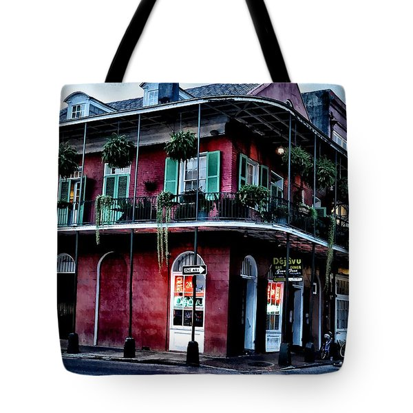 Deja Vu - Bourbon Street Tote Bag by Bill Cannon