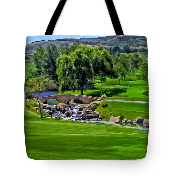 Tote Bag featuring the painting Del Mar Country Club by Michael Pickett