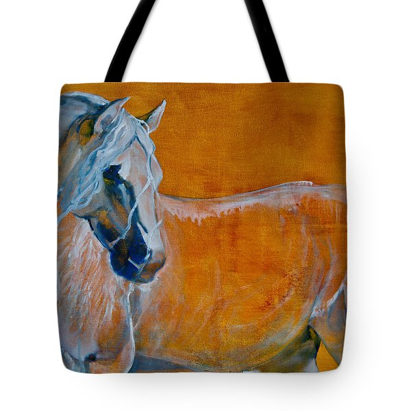 Tote Bag featuring the painting Del Sol by Jani Freimann