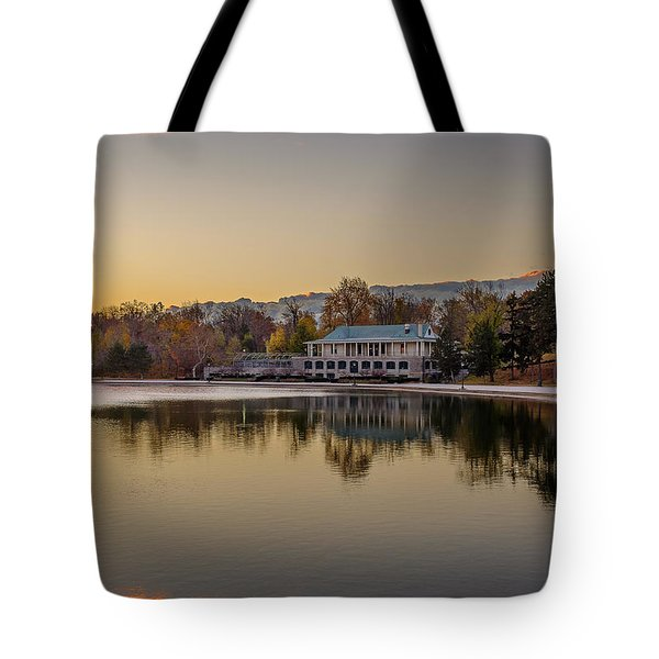 Delaware Park Marcy Casino Autumn Sunrise Tote Bag