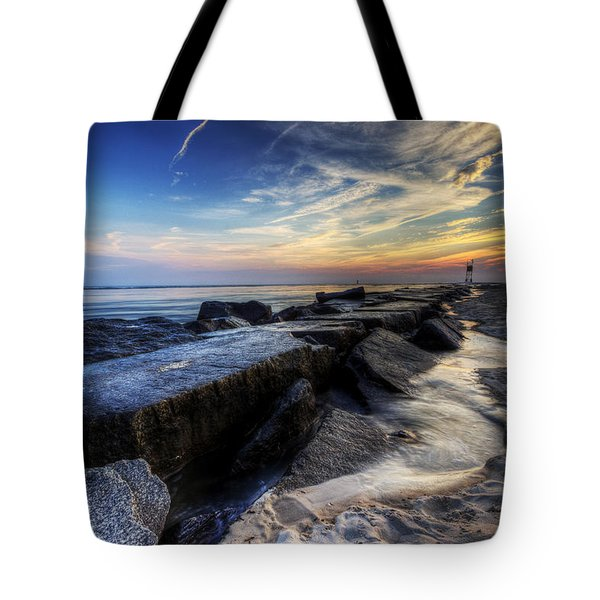Delaware Sunrise At Indian River Inlet Tote Bag
