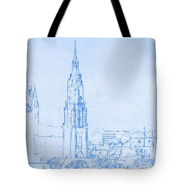 Delft Netherlands Blueprint Tote Bag