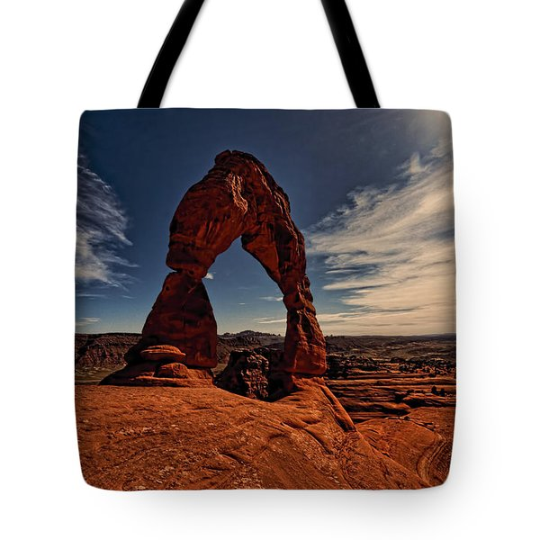 Delicate Arch Afternoon Glow Tote Bag