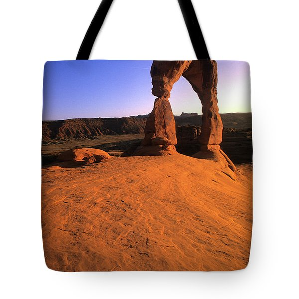 Delicate Arch Tote Bag by Bob Christopher