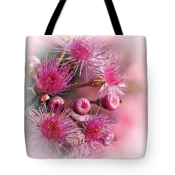 Delicate Buds And Blossoms Tote Bag by Kaye Menner