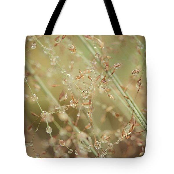 Tote Bag featuring the photograph Delicate Dew Drops by Ari Salmela