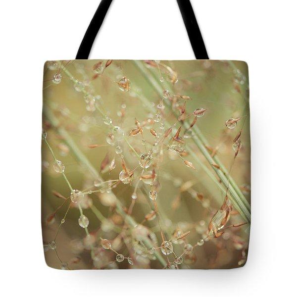 Delicate Dew Drops Tote Bag
