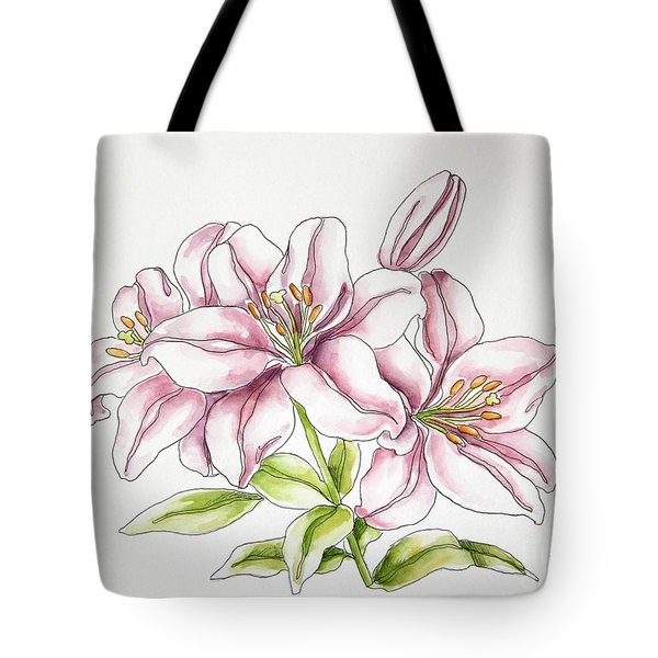 Delicate Lilies Tote Bag