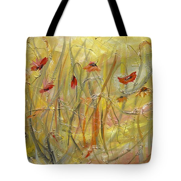 Tote Bag featuring the painting Delicate Poppies by Dorothy Maier