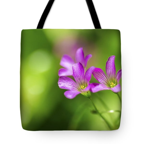 Tote Bag featuring the photograph Delicate Purple Wildflowers by Leigh Anne Meeks