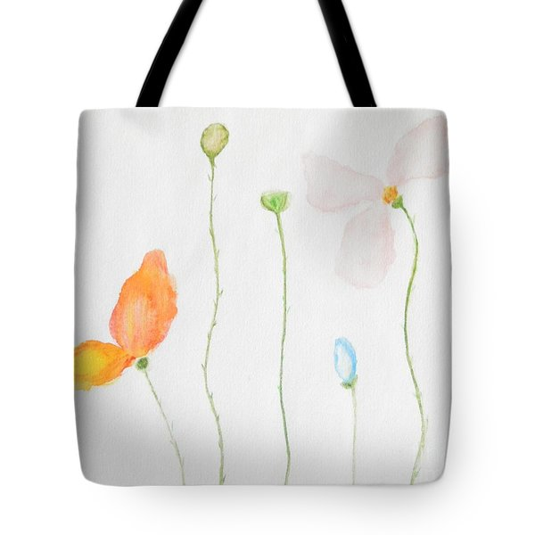 Tote Bag featuring the painting Delicate  by Reina Resto