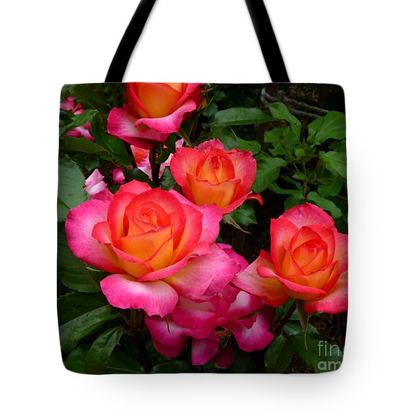 Delicious Summer Roses Tote Bag by Richard Donin