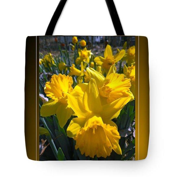 Delightful Daffodils Tote Bag