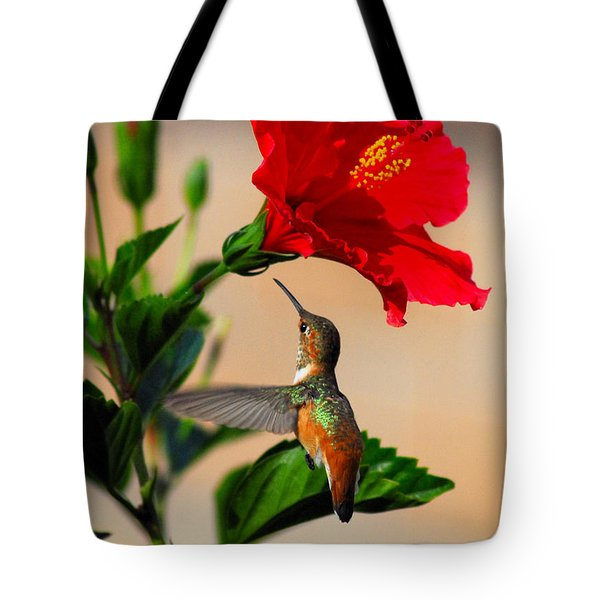 Delightful Hummer Tote Bag by Lynn Bauer