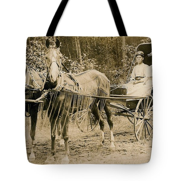 Delivering The Mail 1907 Tote Bag by Floyd Russell