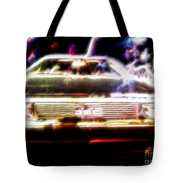 Delorean Fantasy Tote Bag by Renee Trenholm